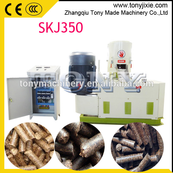 High quality SKJ350 tony small wood pellet machine price/hot sale biomass pellet mill
