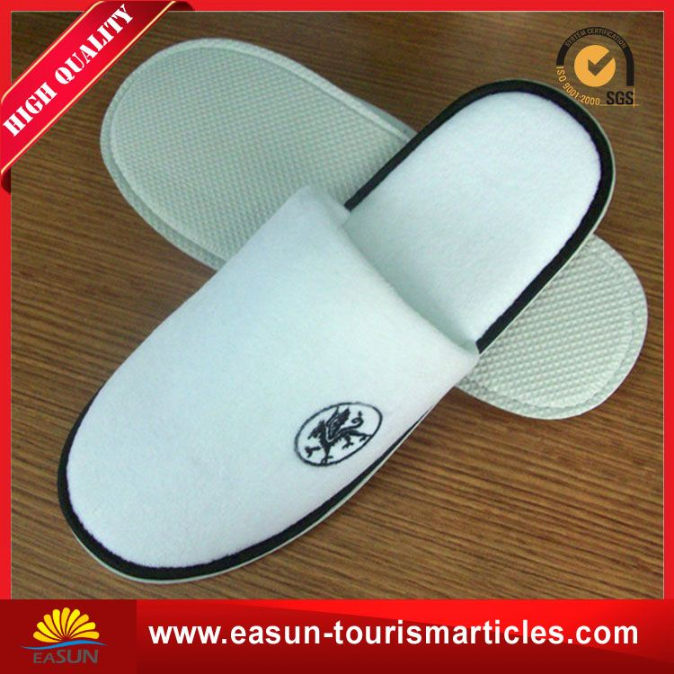 logo printed airline slippers anti slip slippers foam disposable slippers