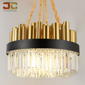 Modern golden chandelier living room lustre de cristal lamp round shape designer lighting