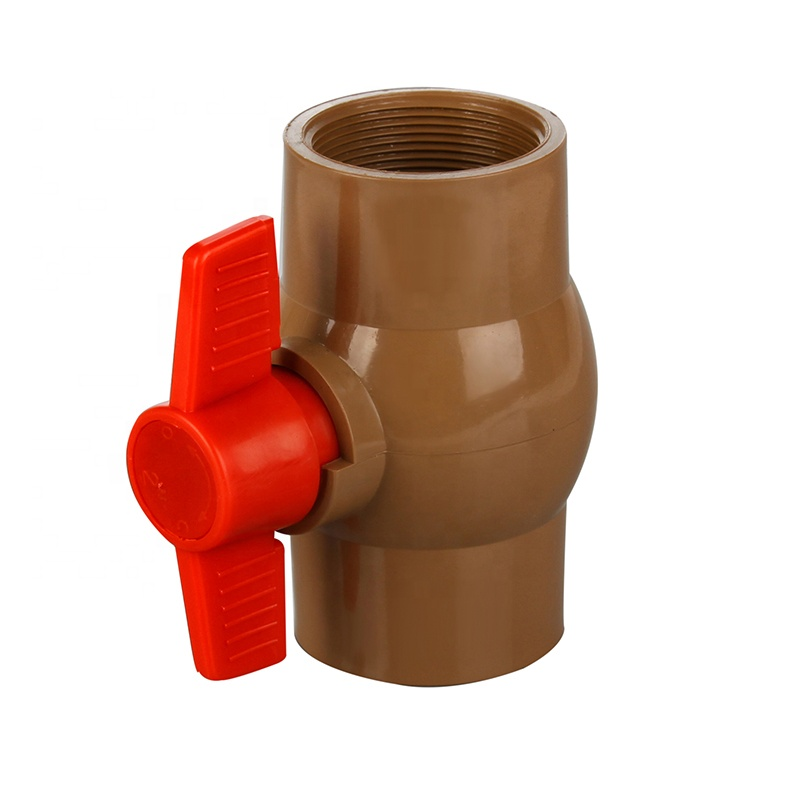The Latest Technology Price Concessions Socket Brazil Plastic PVC Brown Water Pipe Ball Valve