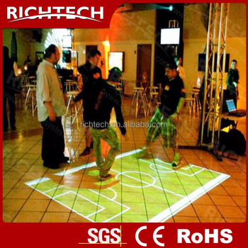 interactive floor/wall projector display all-in-one system for