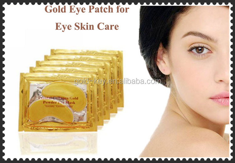 Anti Rimpel Collageen Crystal Eye Bag Masker, goud Oogmasker