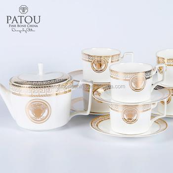 Arabic Coffee Pot Turkish Cups Set Purple Tea