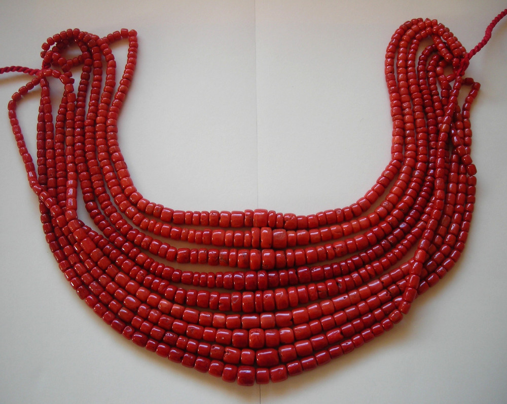 Natural Red Coral Drums