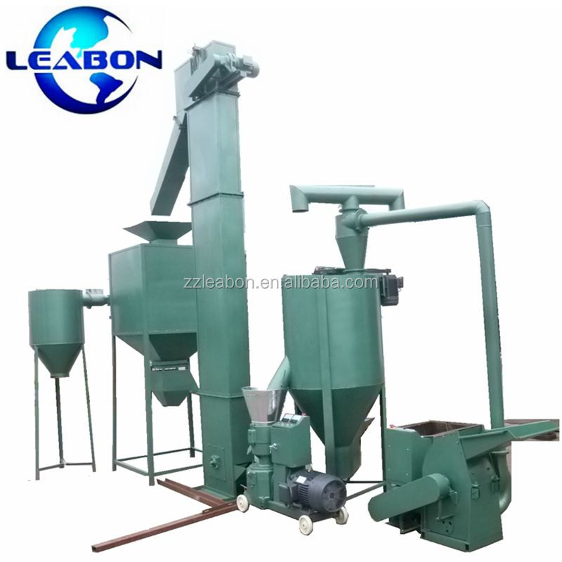 LEABON Hot Sale High Quality With Lower Cost Small Animal Poultry Feed Pellet Production Line/Feed Pellet Granulator