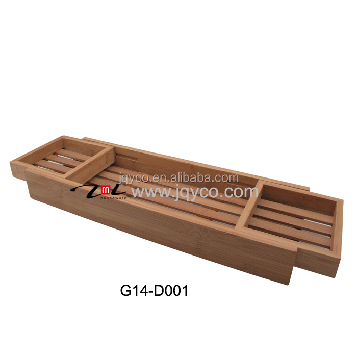 customized CHEAP China bathroom accessories, bamboo bathtub rack for iphone