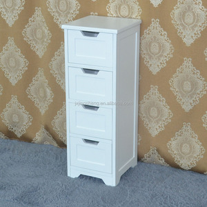 Modern manufacturer cheap price bathroom designs white 4 drawer bathroom cabinet