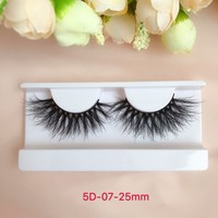 Custom made 3d 4d 5d mink siberian fluffy lashes long 25mm mink eyelashes with case