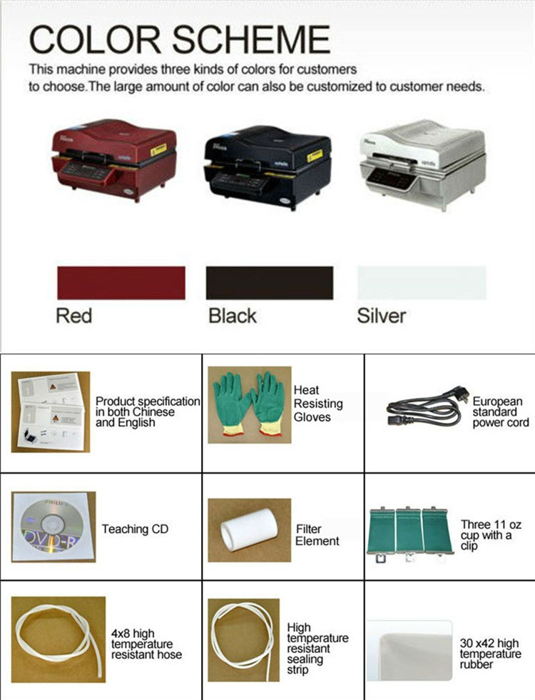 3d sublimation vacuum machine manual