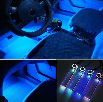12v Cigarette Lighter Color 4 Led Car Interior Decoration Floor Light Lamp Buy Car Led Room