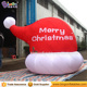 Inflatable Santa Hat For Merry Christmas Decoration With Led Lighting