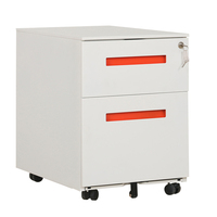 Modern Office Equipment 2 Drawer Mobile Storage Cabinet
