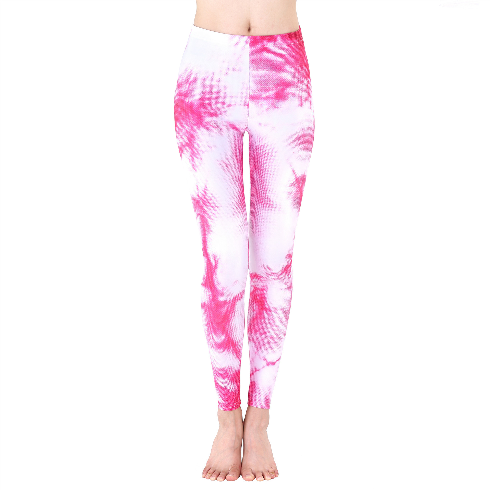 Wholesale custom 88 polyester 12 spandex sublimation sport ladies leggings