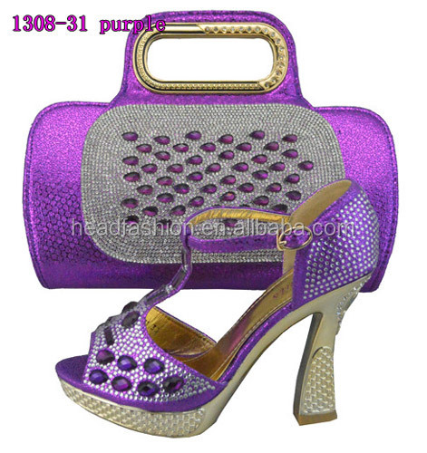 Bags Fashion Design Matching Queency Evening With Purple Shoes Lady 65xUSx8q