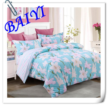 Plain Cotton Bed Sheets/bulk Bed Sheets/Bedding Set Home Textile Wholesale