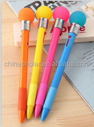 Promotional special shaped gift led flashing ball pen