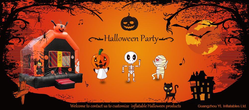 Senang Keluarga Labu Led Lampu Dekorasi Halloween Labu Tiup Untuk