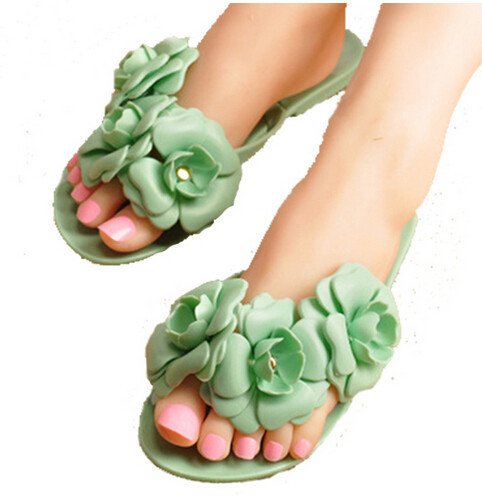 d1a1ad8f1 Get Quotations · 2015 Summer female brand meli ssa flower Beach jelly  flip-flop flats sandals Ladies casual