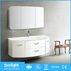 Sunlight Modern White Double Sink Bathroom Vanity For Wholesale
