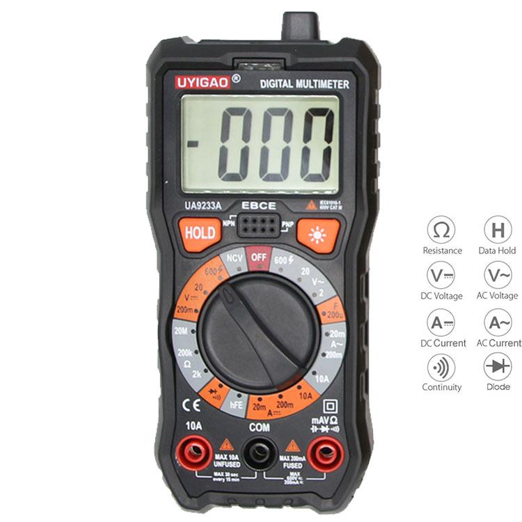 Precise Multimeter Dt10a Pocket Slim Mini Pocket Card Automatic Range Wei Hua Electrical Instruments