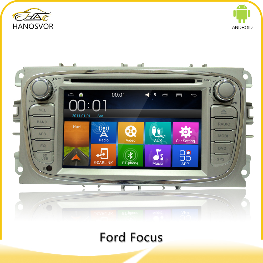 Android 4.4.4 For ford focus7 inch car dvd gps navigation with rear view camera