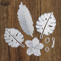 hot sale craft steel paper cutting dies leaf decoration diy