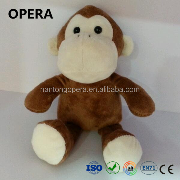 good looking excellent quality brown animal plush monkey