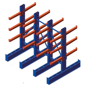 Warehouse Heavy Duty Steel Cantilever Rack For Tube Pipe Storage