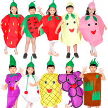 Fruits and vegetables children clothes cosplay masquerade performances costumes performing props party activities