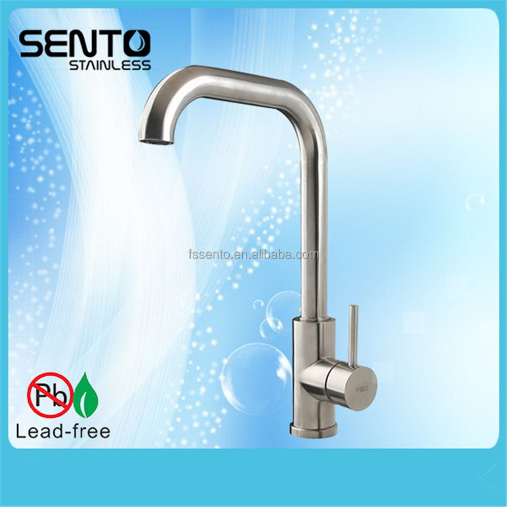 Long neck kitchen faucet - Long Neck Drinking Water Tap Kitchen Sink Tap Triangle Faucet