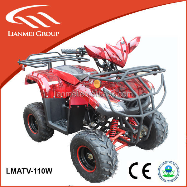 4 wheel bike 4- stroke with three suspension 110cc mini quad atv made in China