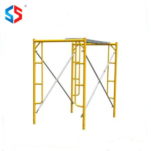 HF-037 walk Through Steel Frame Scaffolding System For Masonry Construction