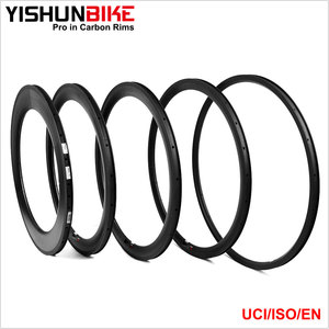 2016 NEW!!! YISHUNBIKE WA5C-TLR 23mm wide 50mm wide toray 700c tubeless road bike carbon rim 24 hole