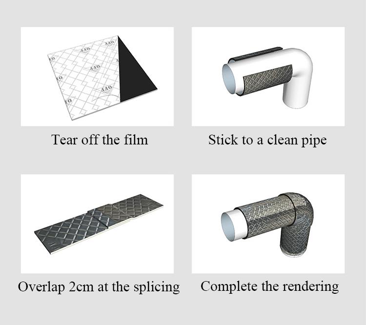 サウンドボックス環境保護自己粘着 waterpipe 遮音と振動減衰フェルト