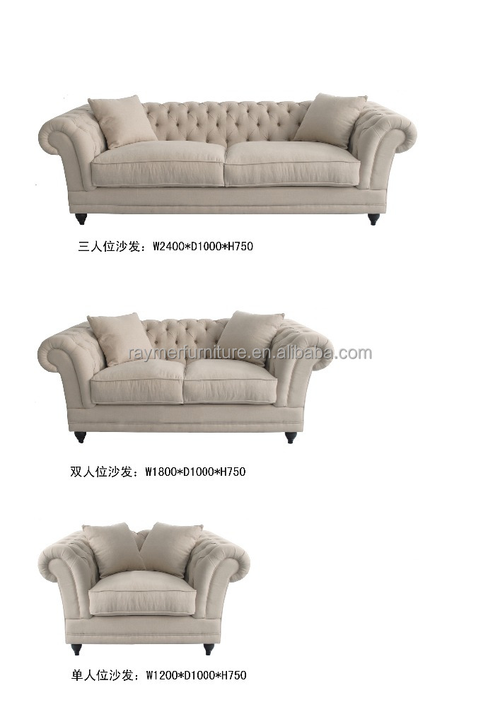 French Linen Fabric Chesterfield 321 Sofa/sectional Sofa 3+2+1   Buy Living  Room Sofas,Upholstered Fabric Sofa,French Linen Sofa Product On Alibaba.com