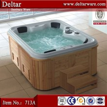 2017 Hot sale 12 person hot tubs wooden barrel bath tub, 12 person hot tubs with video