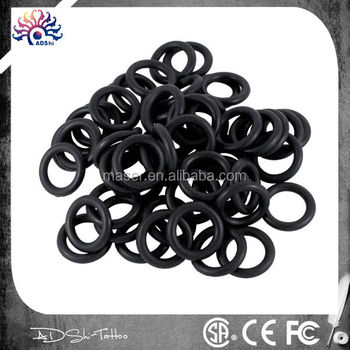 Adshi tattoo factory supply black rubber o ring rubber for Tattoo factory prices
