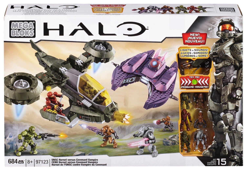 Buy Mega Bloks Halo UNSC Hornet vs Covenant Vampire in Cheap