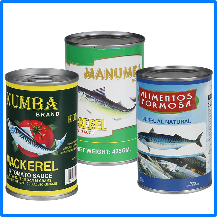 155g supply canned mackerel in tomato sauce/oil/brine/canned fish