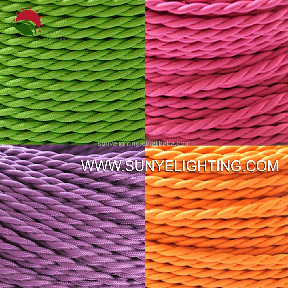 2*0.75mm 18AWG/2C VDE/UL Cable With Cloth-covered textile Fabric Cable <strong>Copper</strong> Wire Insulated Electric Wire Cable