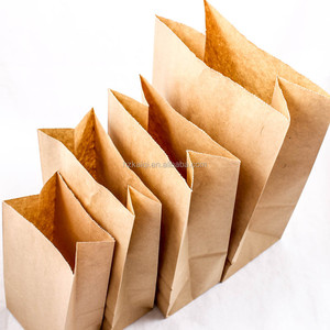 Wholesale Custom small kraft paper take away package fast food paper bag