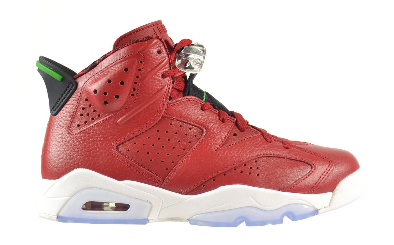 "Nike Mens Air Jordan 6 Retro Spizike ""History of Spizike"" Leather Basketball Shoes"
