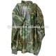 military ruffled poncho