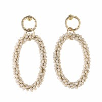 costume jewelry round high quality earring crystal