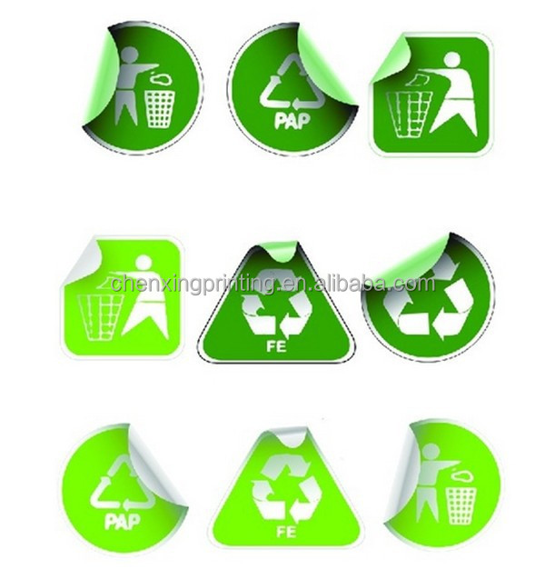 Reciclaje insignia sticker-tinte del medio ambiente cut Decal