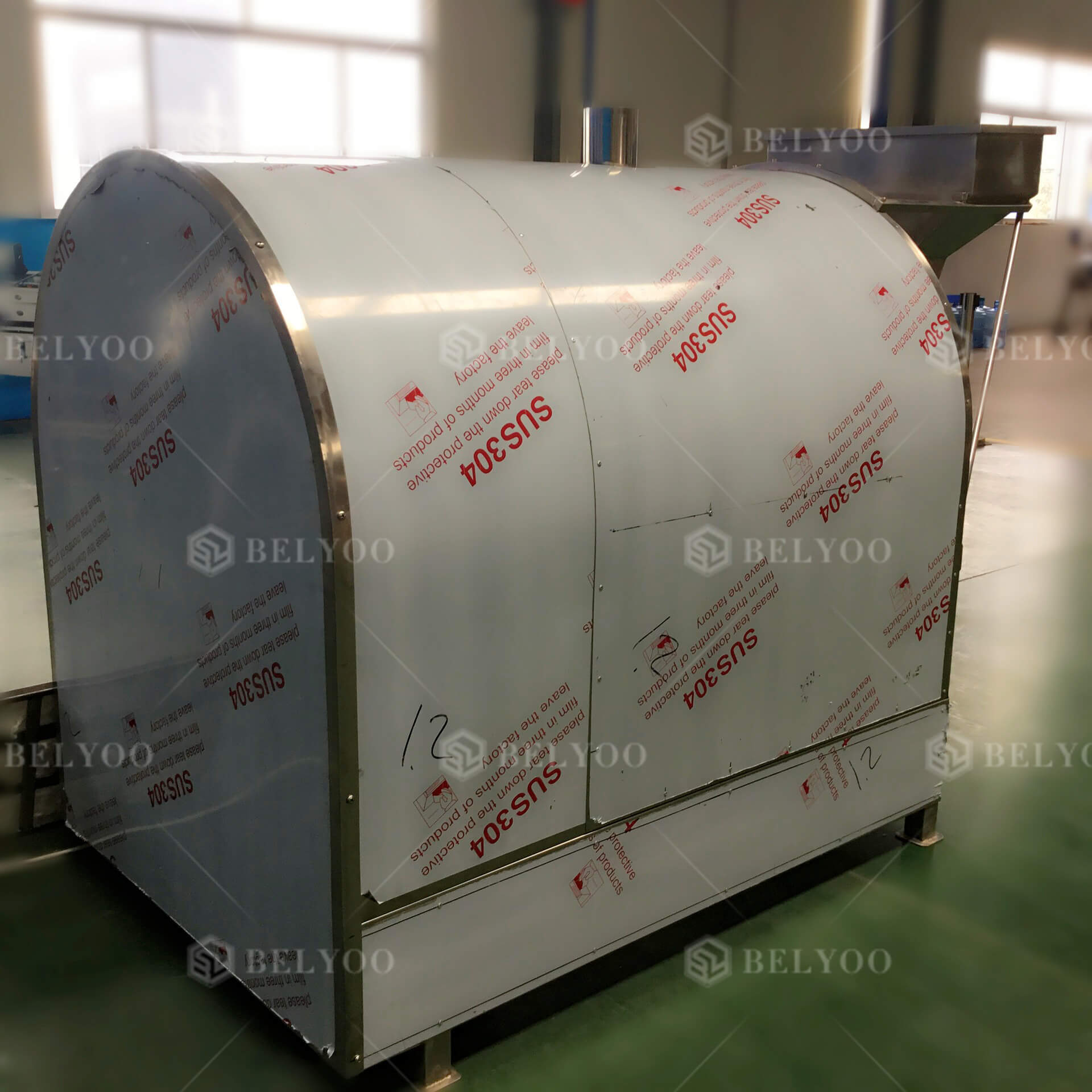 Commercial automatic sunflower seeds nuts roasting machine continues soya beans peanut toaster peanuts roaster