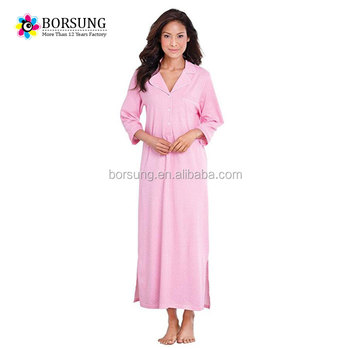 d573435556 Latest Fashion autumn long sleeve nighty gown design cotton women Night  Dress