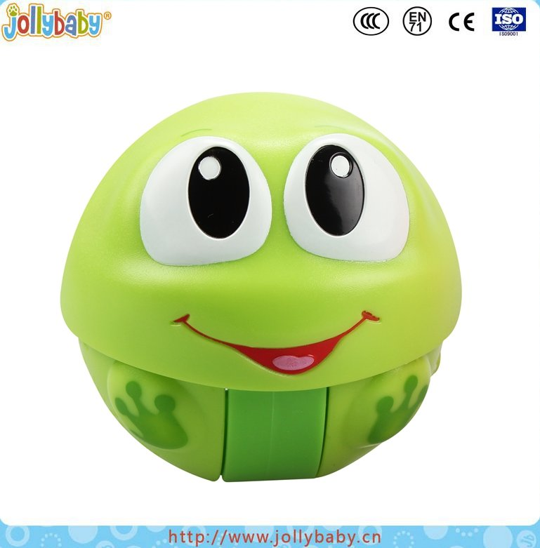 Australia Brand Jollybaby Toys Baby Plastic Educational And Musical Cute Animals Character Rolling Shaker Ball
