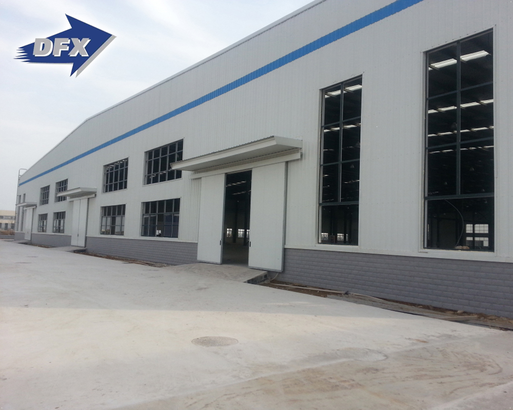Qingdao light weight steel structure building steel frame for workshop in Mozambique