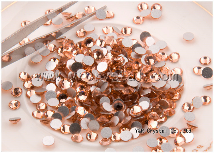 ss10 1440pcs/lot Light Peach Rhinestones Nail Art Decorations non hot fix flat back crystal